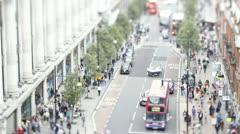 Tilt shift Time lapse of Oxford Street, London Stock Footage