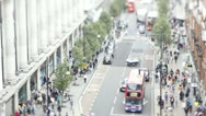 Stock Video Footage of Tilt shift Time lapse of Oxford Street, London