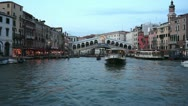 Stock Video Footage of rialto bridge in venice