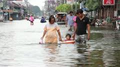 Thailand Ayutthaya Flood 9712 Stock Footage