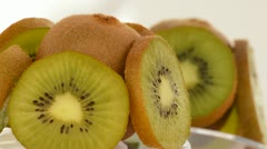 Kiwi rotating. Fruit tropical. Loop Stock Footage