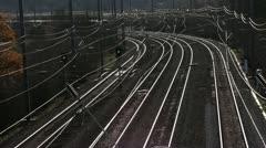 Train on track Stock Footage