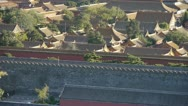 Stock Video Footage of Panoramic of China ancient tower architecture Beijing Forbidden City.
