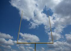 american football field goal posts - stock photo