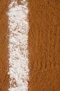 baseball infield chalk line - stock photo
