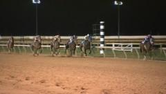 Horse Race at the Finish Line Part 2 of 2 Stock Footage