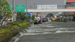 Thailand Ayutthaya Flood 9737 - stock footage