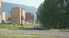 Town of Divnogorsk Street View - stock footage