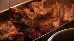 Roast goose-meat Stock Footage