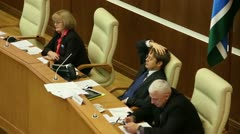 Meeting in the Parliament Stock Footage