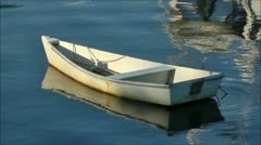 Stock Video Footage of Rowboat at anchor
