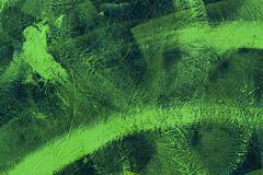 Painted green brush strokes Stock Photos