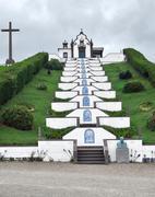 church at sao miguel island - stock photo