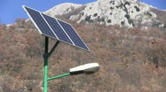 Italy - Street lamp with Solar cell Stock Footage
