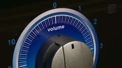 Sound Volume, closeup Stock Footage