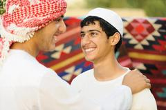 Real authentic arabic ethnicity people Stock Photos