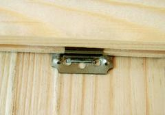 Fastening of boards to a partition Stock Photos