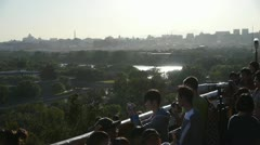 Many tourists people at China ancient architecture Beijing Forbidden City. Stock Footage