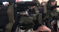 Film crew, journalists - stock footage