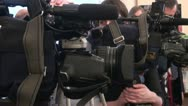 Stock Video Footage of Film crew, journalists