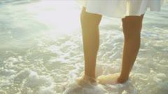 Bare Legs Latin American Beach Girl - stock footage