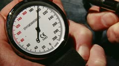 Blood pressure meter, down Stock Footage