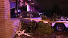 Suv crashes into a building Stock Footage