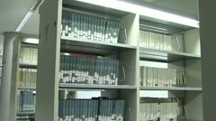 Library bookcases Stock Footage