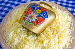 grated cheese of the german allgaeu - stock photo