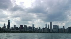 Chicago Skyline boats Time Lapse Stock Footage