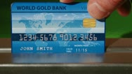 Dark and Light Blue Credit Cards Stock Footage