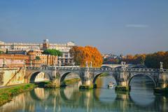 Sant'angelo's bridge rome, italy Stock Photos