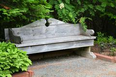 Classic garden bench Stock Photos