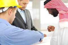 Arkkitehtien Lähi-idän keskustella suunnittelu-hanke Kuvituskuvat
