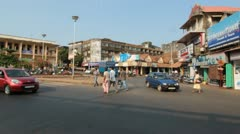 Urban Traffic Congestion, Goa, India Stock Footage