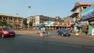 Urban Traffic Congestion, Goa, India Stock Footage