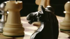 Chess, from knight to king Stock Footage