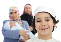 Stock Photo of happy arabic family
