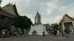 Wat Pho - Temple of the Reclining Buddha Stock Footage