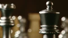Chess, king queen rook Stock Footage