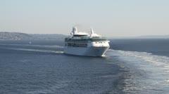 Cruiseship wake 003 Stock Footage