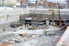 Construction site underground Stock Photos