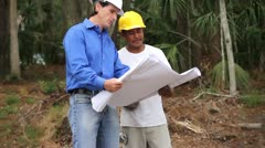 Homebuilder and Construction Worker - stock footage