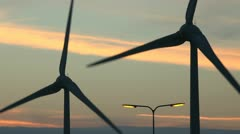 Wind Turbines in the Netherlands - stock footage