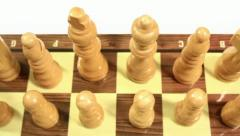 Chess pieces lined up Stock Footage