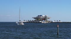 St. Pete Pier in St. Petersburg, Florida Stock Footage