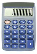 ?alculator with percent on buttons Stock Photos