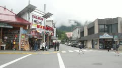 Ketchikan Alaska, downtown 002 Stock Footage