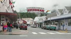 Ketchikan Alaska, downtown 001 Stock Footage