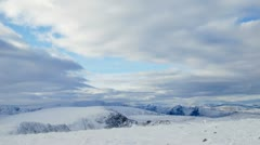 Scottish mountains in winter Stock Footage